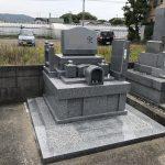 静岡市駿河区高松 慈貞院様にて新規洋型石碑建之