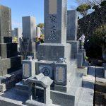 静岡市愛宕霊園 和型9寸石碑 新規建之工事